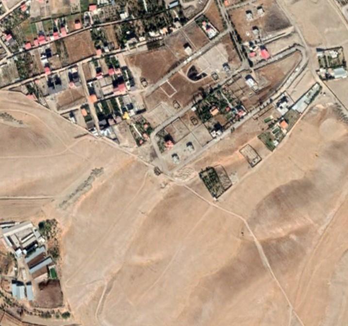 ارتوفتو orthophoto از قسمتی از رودهن جهت کارشناسی و تهیه نقشه جهاد کشاورزی